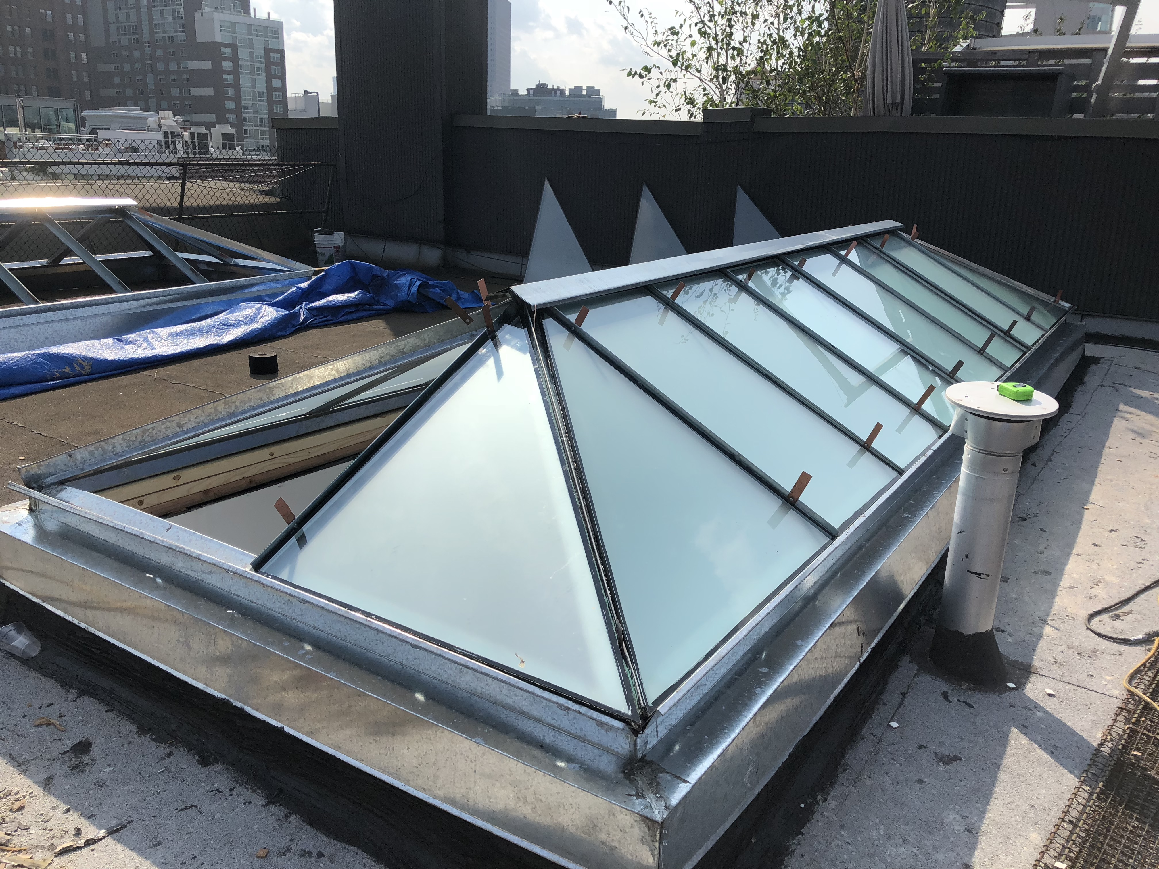 flat roof skylight glass NYC