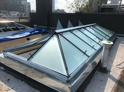 flat roof skylight glass NYC