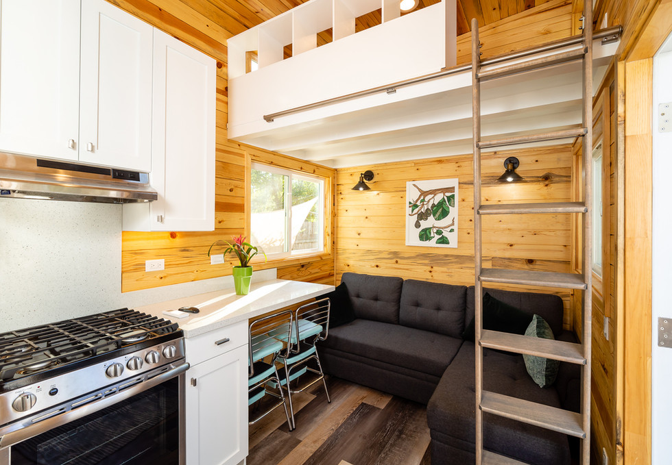 Kitchen, living, optional loft