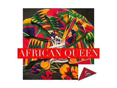 African Queen Mask & Mini Earring