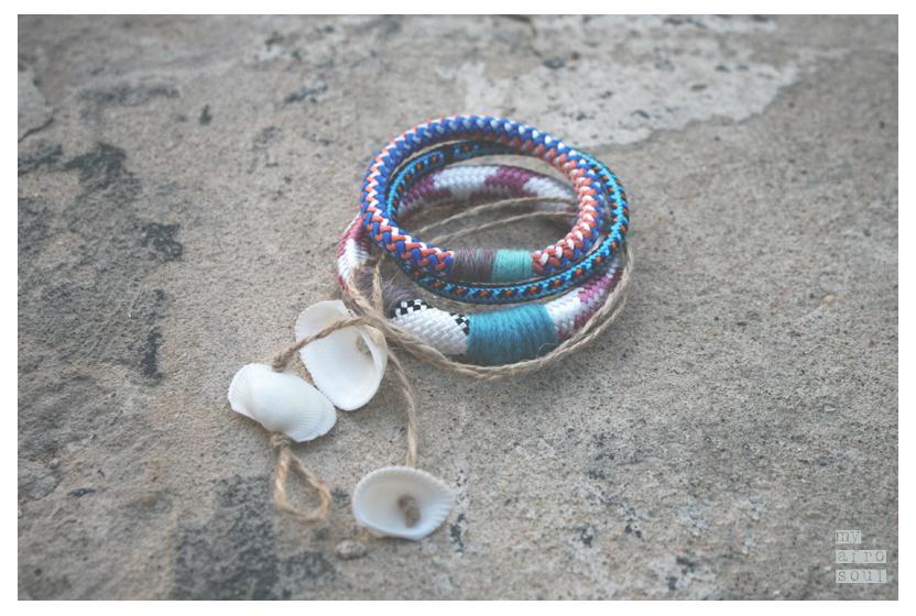 Bracelets set pink