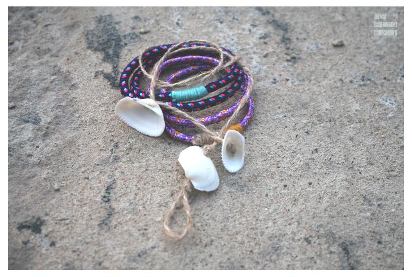 Bracelets set lilac