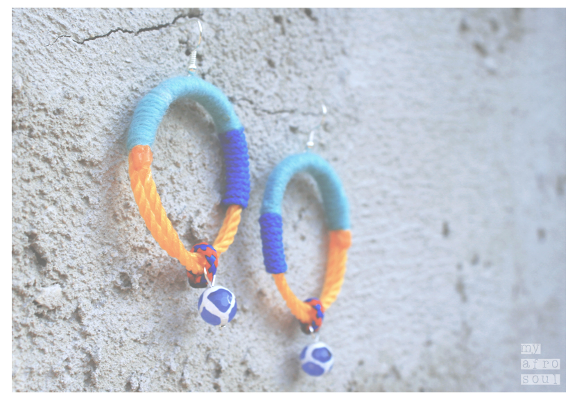 MAASAI earrings with blue agat