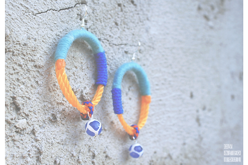 MAASAI  earrings with blue agate