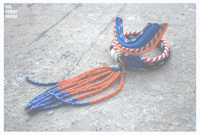 MAASAI peafowl bracelet