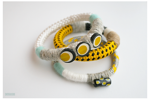 Yellow bracelets set