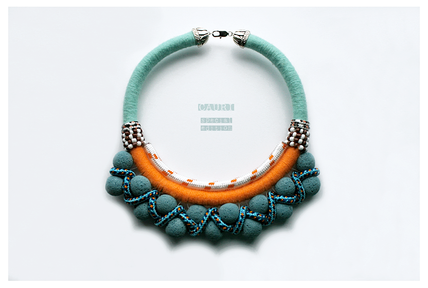 BAHIA necklace with lava balls