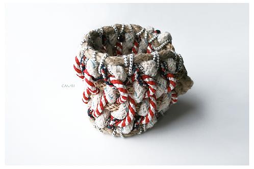 Rope macrame hand bracelet