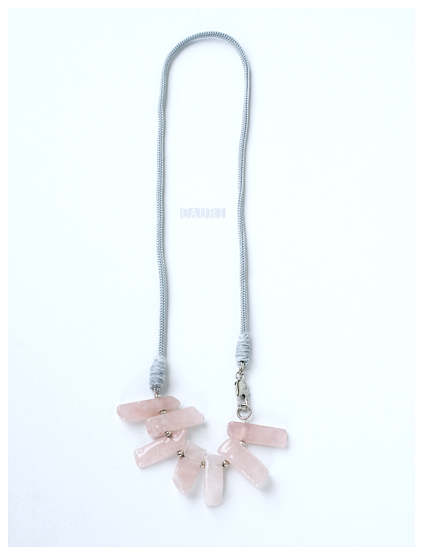 Necklace - bracelet with ROSE QUARTZ