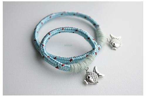 """Same bracelets set 4 mom & daughter """"LIL FISH"""""""