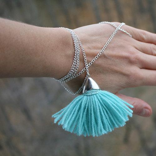 Fringe bracelet turquoise