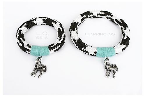 ZEBRA Bracelets set for Mom & Daughter