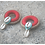 Thumbnail: Big rings earrings with cowrie shells