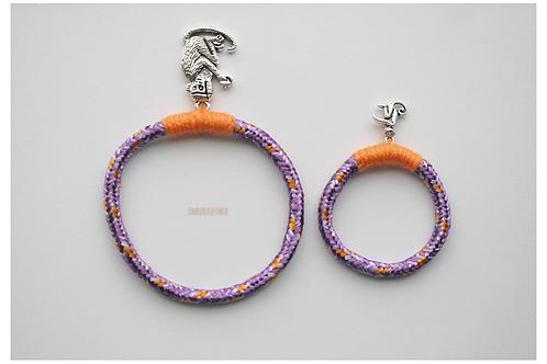 """Same bracelets set 4 mom & daughter """"MONKEYS"""""""
