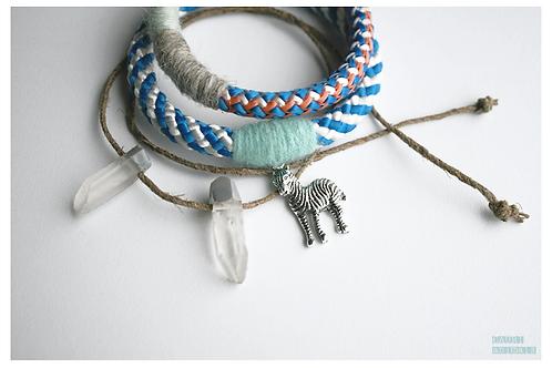 Bracelets set with rhinestones
