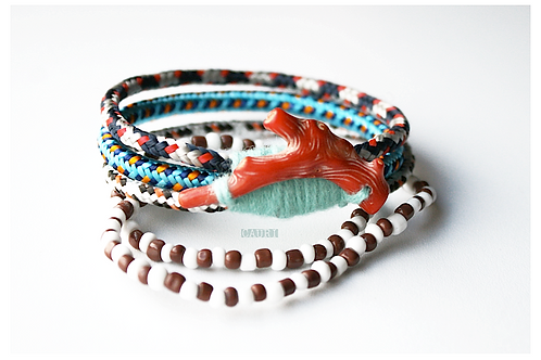 INDIANS Bracelet with red coral
