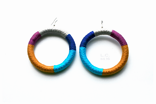 Big afro colorful circle earrings L.C.