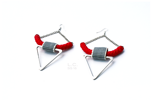 Triangle earrings L.C