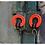 Thumbnail: Big red circle earrings L.C.