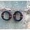 Thumbnail: Hoop hip-hop earrings black & red