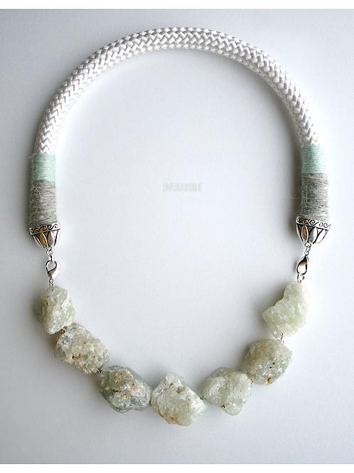 Necklace - bracelet with PREHNITE