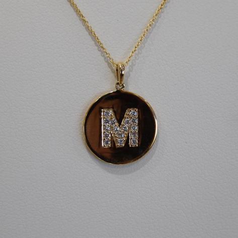 M Initial Pendant
