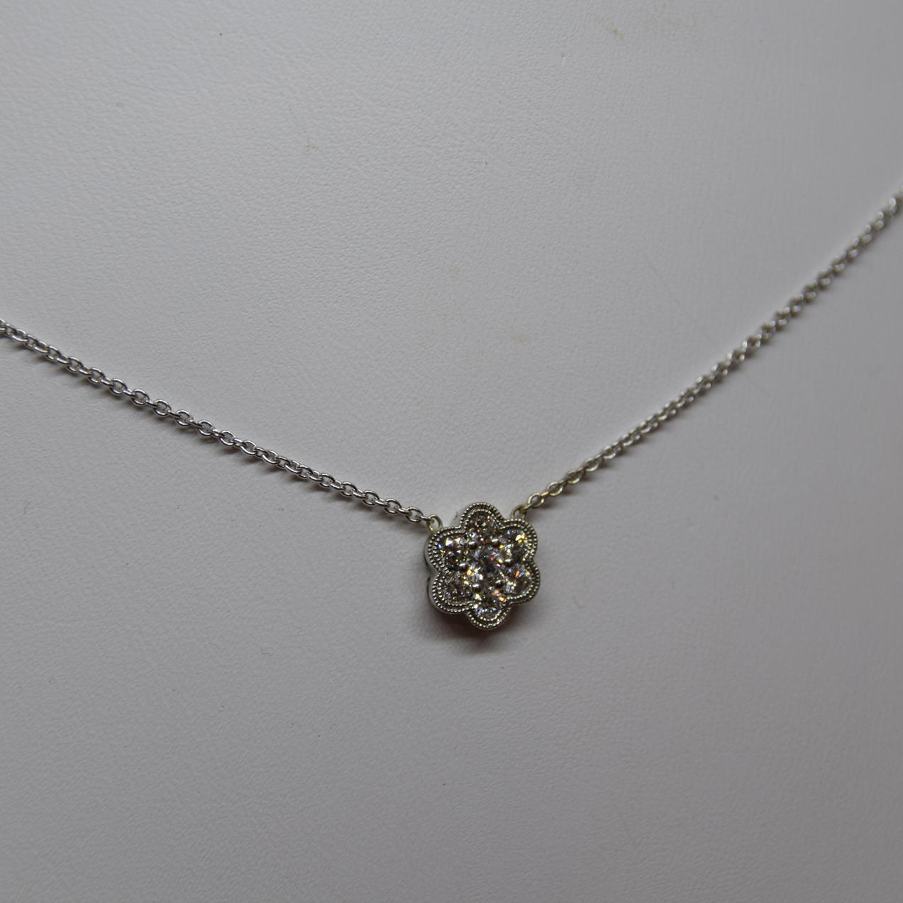 Diamond flower pendant