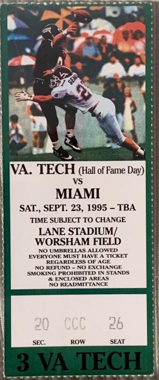1995 vs Miami 1st win vs Miami