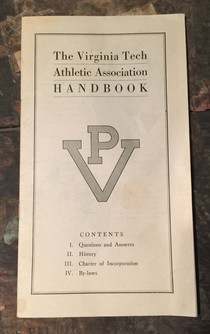 1939 Athletic Handbook