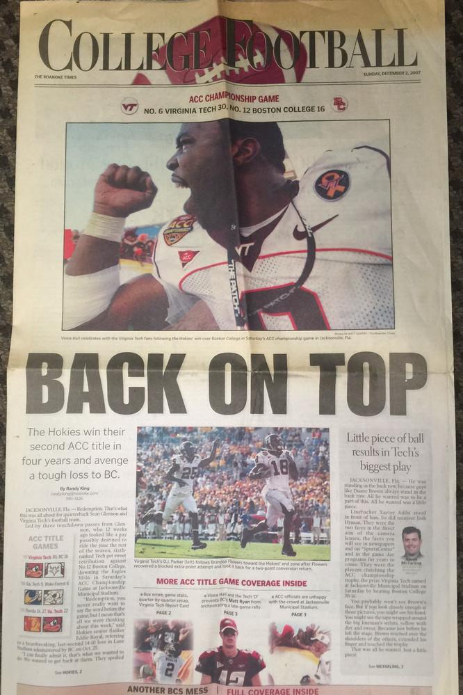 2007 Roanoke Times ACC Champs
