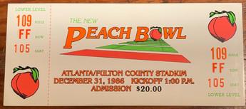 1986 Peach Bowl vs NC State