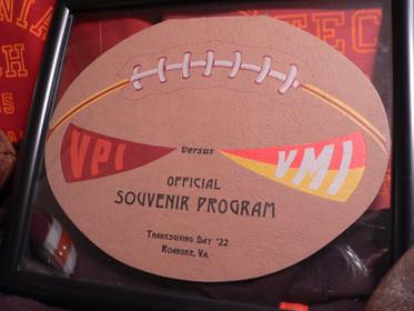 Antique VPI football program