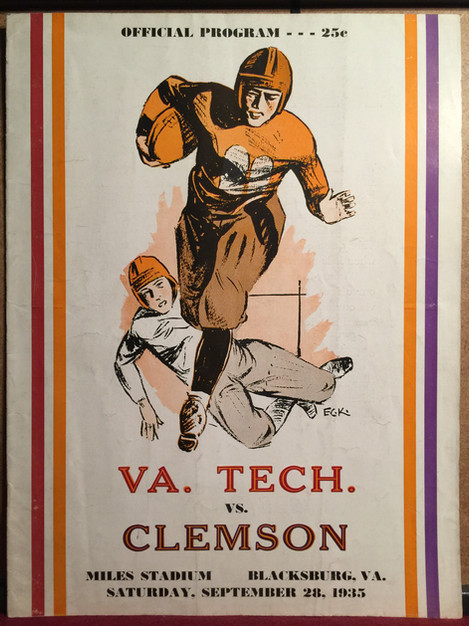 Antique VPI Clemson football program