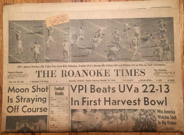 1958 Harvest Bowl Victory