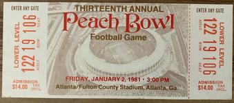 1981 Peach Bowl vs Miami