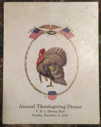 1928 Thanksgiving Dinner Invitation