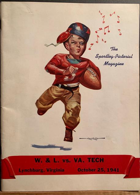 Antique VA Tech Football