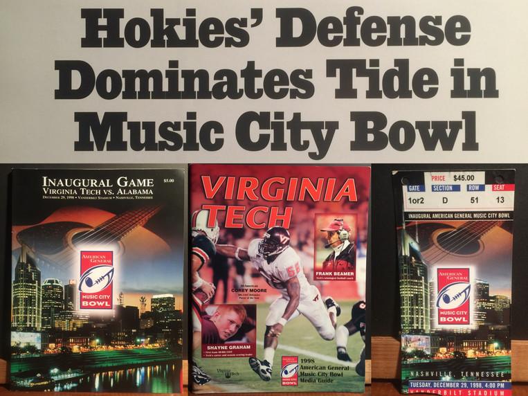 1998 Music City Bowl Victory over Alabama