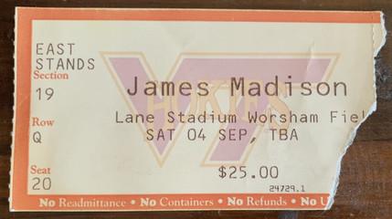 1999 vs JMU Mike Vick's 1st game
