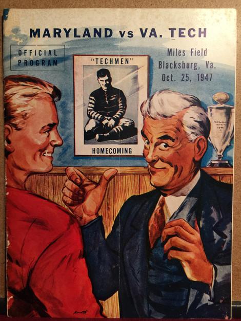 Vintage Virginia Tech football program
