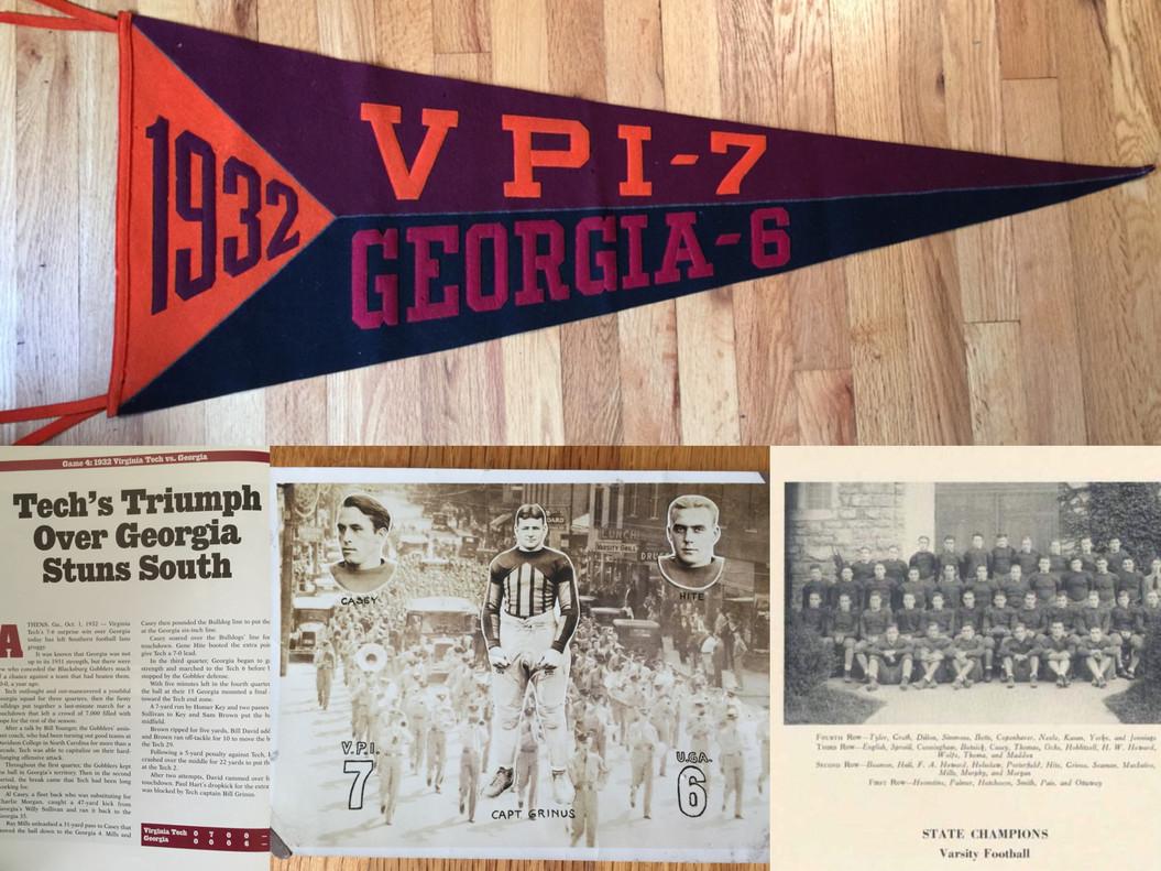 1932 Victory over Georgia