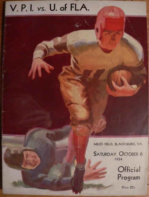 Antique VPI Florida football program