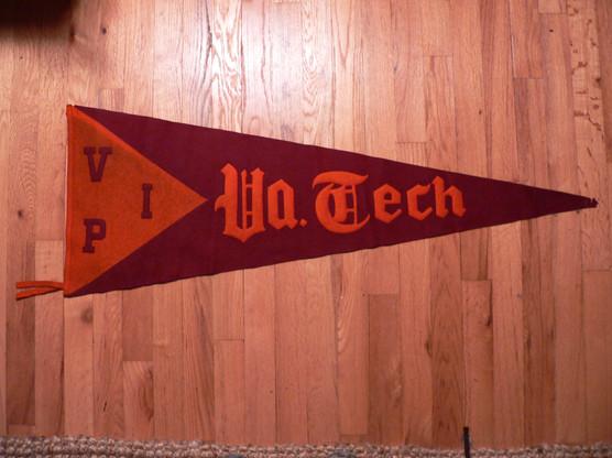 Antique VA tech pennant