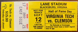 1987 vs Clemson Frank Beamer's 1st game