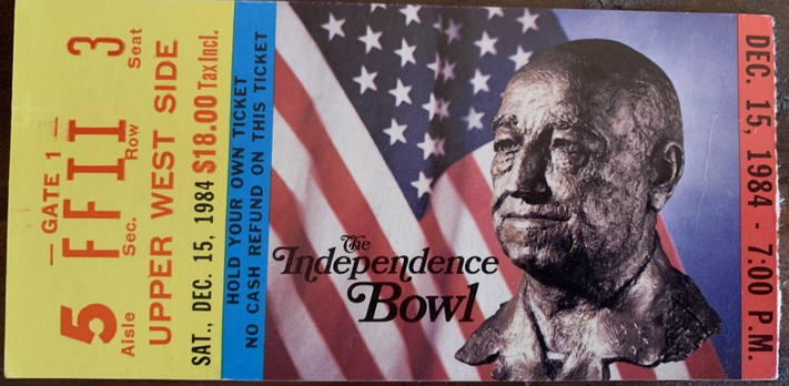 1984 Independence Bowl vs Air Force