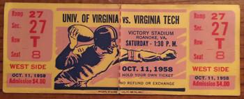 1958 Harvest Bowl vs UVA