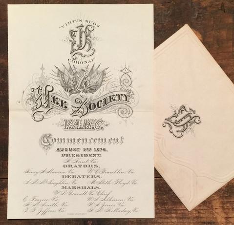 1876 VAMC Commencement Program