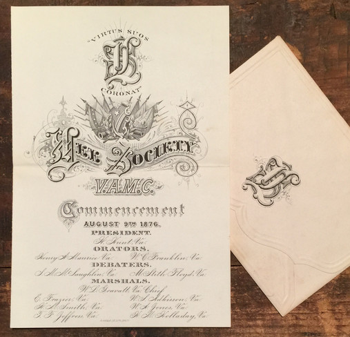 1876 VAMC Commencement Program