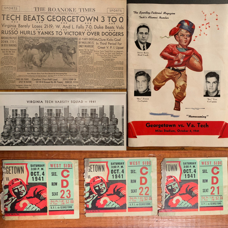 1941 Victory over Georgetown
