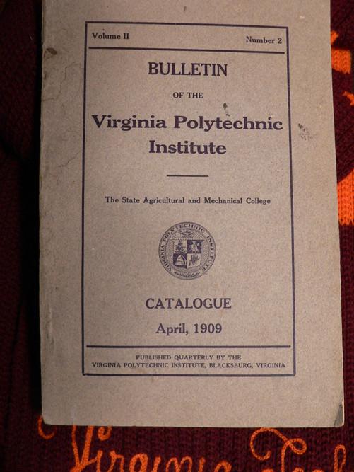 1909 Course Catalogue